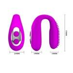 Лиловая вибронасадка для оральных ласк Mabel - фото 1169835