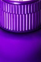 Фиолетовый вибратор с утолщением посередине и клиторальным зайчиком - 18 см. - фото 1170003