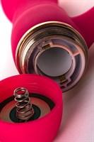 Розовый вибромассажёр с небольшим клиторальным отростком - 15 см. - фото 1170017