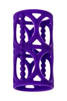 Фиолетовая насадка-сетка на член - фото 323905