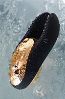 Чёрно-золотой клиторальный вибромассажер WANAME Wave - фото 234617