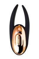 Чёрно-золотой клиторальный вибромассажер WANAME Wave - фото 234607