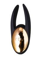 Чёрно-золотой клиторальный вибромассажер WANAME Wave - фото 234609