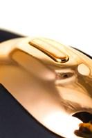 Чёрно-золотой клиторальный вибромассажер WANAME Wave - фото 234613