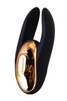 Чёрно-золотой клиторальный вибромассажер WANAME Wave - фото 234605