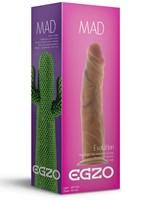 Реалистичный фаллоимитатор без мошонки Mad Cactus - 20,5 см. - фото 205307