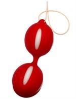 Красные вагинальные шарики с петлей - фото 475707