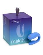 Голубой вибромассажер для пар We-Vibe Match - фото 1172316