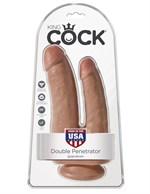 Анально-вагинальный фаллоимитатор-мулат Double Penetrator - 20,9 см. - фото 206792