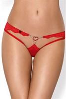 Сексуальные трусики с украшением в виде сердца из кристаллов - фото 236711