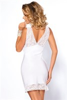 Белая сорочка Colette с кружевным лифом и оторочкой подола - фото 1173287
