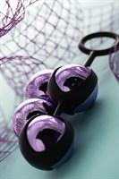 Фиолетово-чёрный набор вагинальных шариков TOYFA A-toys - фото 1175834