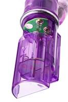 Фиолетовый хай-тек вибратор High-Tech fantasy с бусинами и отростком - 27,2 см. - фото 240409