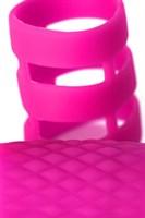 Розовое эрекционное виброкольцо ADMA - фото 1176566