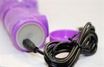 Фиолетовый виброкомпьютер с ротацией и режимом Up Down - 23,5 см. - фото 240689
