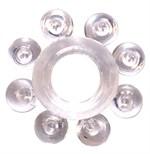 Прозрачное эрекционное кольцо Rings Bubbles - фото 1176893