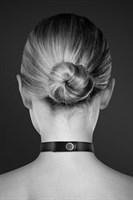 Чёрный чокер с кольцом в форме сердца - фото 210100