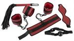 Красно-черный набор из 5 предметов для БДСМ-игр - фото 241342