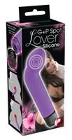 Фиолетовый вибростимулятор унисекс G+P Spot Lover - 16 см. - фото 1678188