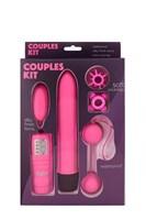 Розовый вибронабор COUPLE KIT - фото 167628