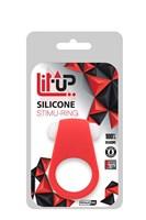 Красное эрекционное кольцо LIT-UP SILICONE STIMU RING 4 - фото 1551031