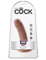 Фаллоимитатор-мулат на присоске 6  Cock - 15,2 см. - фото 213419