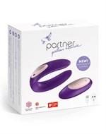 Фиолетовый вибратор для пар Satisfyer Double Plus Remote с пультом ДУ - фото 1679522