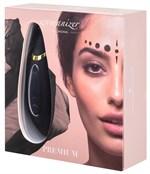Чёрный бесконтактный клиторальный стимулятор Womanizer Premium - фото 1179428