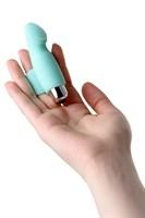 Мятная вибронасадка на палец для клиторальной стимуляции JOS BLISS - 9 см. - фото 36154