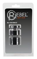 Набор из 3 колец для утяжки мошонки Rebel Ball Stretching Kit - фото 1680342