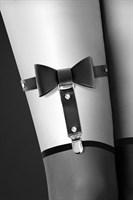 Подвязка с черным бантиком GARTER WITH BOW - фото 36722