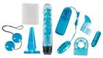 Голубой вибронабор из 8 предметов Blue Appetizer - фото 169675