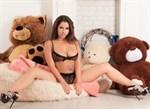 Двусторонний реалистичный мастурбатор - копия вагины и попки Елены Берковой - фото 245208