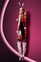 Чёрно-белый костюм зайки Charity - фото 37476