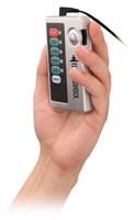 Темно-серая анальная пробка с электростимуляцией Bold Butt Plug - 14,1 см. - фото 509896