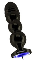 Темно-серая анальная пробка с электростимуляцией Bold Butt Plug - 14,1 см. - фото 509894