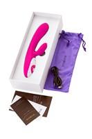 Розовый вибратор Nalone Rhythm с клиторальным стимулятором - 21,6 см. - фото 1181484