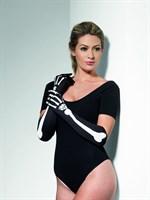 Длинные перчатки с изображением костей - фото 258616