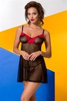 Чарующая сорочка из прозрачного тюля Valentine - фото 1182292