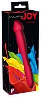 Красный гибкий двусторонний фаллоимитатор Colorful Joy - 21,5 см. - фото 216583