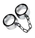 Серебристые широкие наручники Metal - фото 1182706