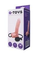 Реалистичный телесный фаллоимитатор A-Toys - 20 см. - фото 1182926
