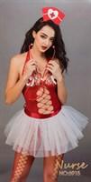 Изысканный костюм медсестры с пышной юбочкой - фото 249030